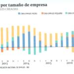 Mayoría del empleo creado en el último año radica en las micro y grandes empresas